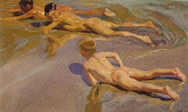 Children on the Beach by Joaquin Sorolla